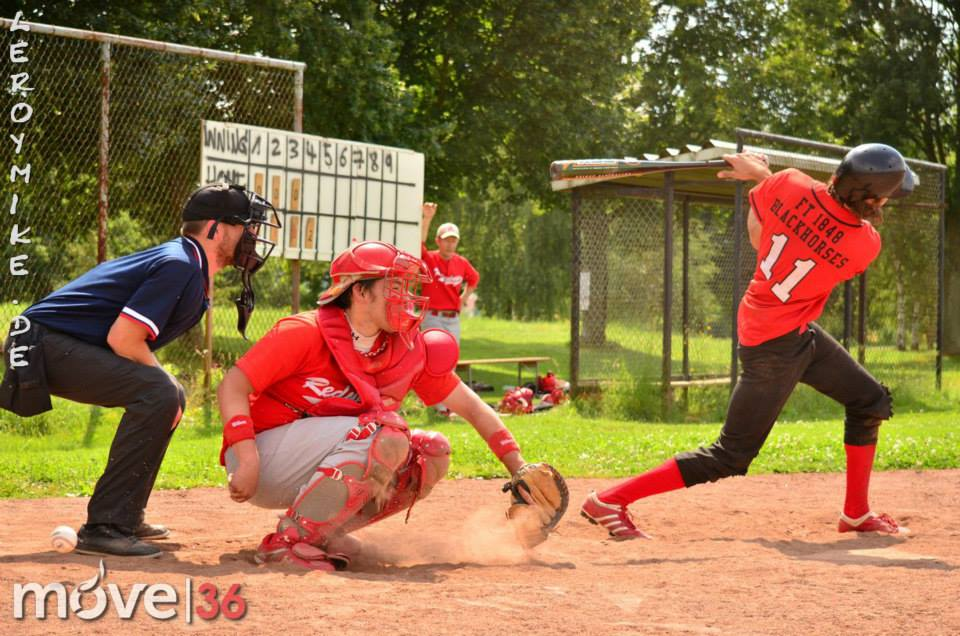 Baseball FT Fulda Blackhorses vs Main Taunus Redwings Jul 2014