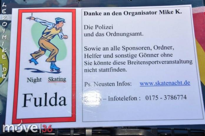 Skatenacht Fulda bei bestem Skater-Wetter 168 Teilnehmer